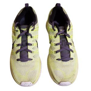 Nike Flyknit One+ Running Shoes Green / Black 10